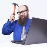 Ι επιχειρηματίας και σφυρί - (σειρά) Στοκ εικόνα με δικαίωμα ελεύθερης χρήσης