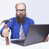 Ι επιχειρηματίας και σφυρί - (σειρά) Στοκ Εικόνες