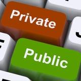 Ιδιωτικά ή δημόσια κλειδιά σε ένα πληκτρολόγιο Στοκ Εικόνα