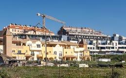 Ιδιωτικές κατοικίες στην κατασκευή Στοκ εικόνες με δικαίωμα ελεύθερης χρήσης