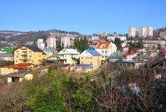 Ιδιωτική κατοικία στην κορυφογραμμή Vinogradnyi 2014 χειμερινός κόσμος της Ρωσίας Sochi 2018 παιχνιδιών φλυτζανιών ολυμπιακός Στοκ Φωτογραφία