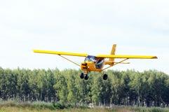 Ιδιωτική προσγείωση αεροπλάνων Στοκ Φωτογραφίες