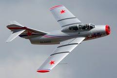 Ιδιωτική perfoming πτήση επίδειξης miG-15UTI σε Zhukovsky στοκ φωτογραφίες με δικαίωμα ελεύθερης χρήσης