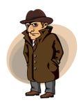 Ιδιωτικός αστυνομικός ή κατάσκοπος Στοκ Εικόνες