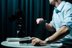 Ιδιωτικός αστυνομικός στον κίνδυνο Στοκ Εικόνες