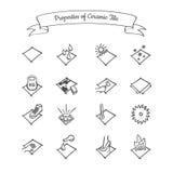 Ιδιότητες του κεραμικού κεραμιδιού διανυσματική απεικόνιση