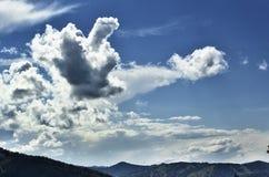 Ιδιότροπα σύννεφα Στοκ Εικόνα