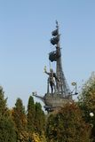 ι μνημείο Μόσχα Peter Στοκ φωτογραφία με δικαίωμα ελεύθερης χρήσης