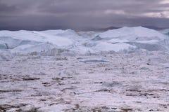 Ιλούλισσατ Icefjord Γροιλανδία Στοκ Εικόνες