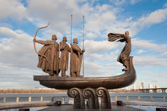 Ιδρυτές του Κίεβου Στοκ Εικόνες