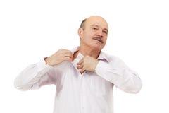 Ιδρωμένο σημείο στο πουκάμισο λόγω της θερμότητας, των ανησυχιών και της έλλειψης αυτοπεποίθησης στοκ φωτογραφία με δικαίωμα ελεύθερης χρήσης