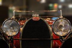 Κάγκελα και λογότυπο Bugatti στοκ εικόνα με δικαίωμα ελεύθερης χρήσης
