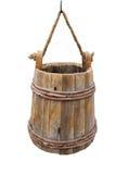 κάδος που κρεμά απομονωμένο παλαιό ξύλινο Στοκ Εικόνες