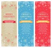 Κάθετα εμβλήματα Χριστουγέννων με το διάστημα για το αντίγραφο - απεικόνιση Στοκ Εικόνα