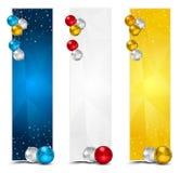 Κάθετα εμβλήματα Χριστουγέννων πολυγώνων Στοκ Εικόνες