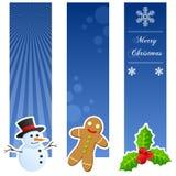 Κάθετα εμβλήματα Χριστουγέννων απεικόνιση αποθεμάτων