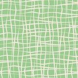 Κάθετα και οριζόντια συρμένα χέρι ανώμαλα άσπρα λωρίδες περάσματος στο πράσινο υπόβαθρο μεντών E απεικόνιση αποθεμάτων