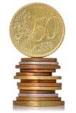 Κάθετα συσσωρευμένα νομίσματα Στοκ Εικόνες