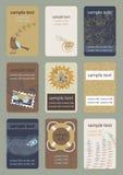Κάθετες επαγγελματικές κάρτες Στοκ Φωτογραφία