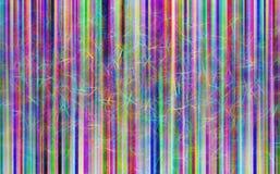 Κάθετες ζωηρόχρωμες γραμμές με την απεικόνιση μορίων Στοκ φωτογραφία με δικαίωμα ελεύθερης χρήσης