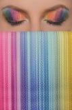 Κάθετες χρωματισμένες εικόνα μάτια και τσάντες Στοκ φωτογραφία με δικαίωμα ελεύθερης χρήσης