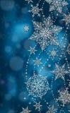 Κάθετη ευχετήρια κάρτα Χριστουγέννων - απεικόνιση Χριστούγεννα σκούρο μπλε - καμία κατακόρυφος κειμένων Στοκ Εικόνα