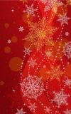 Κάθετη ευχετήρια κάρτα Χριστουγέννων - απεικόνιση Χριστούγεννα κόκκινος-καμία κατακόρυφος κειμένων Στοκ εικόνες με δικαίωμα ελεύθερης χρήσης