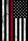 Κάθετη κατασκευασμένη σημαία υποστήριξης πυροσβεστών απεικόνιση αποθεμάτων