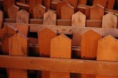 Κάθετη ξύλινη φραγή Στοκ Εικόνες