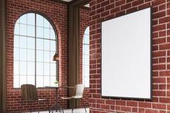Κάθετη πλαισιωμένη εικόνα σε έναν τοίχο καφέδων, γωνία απεικόνιση αποθεμάτων