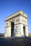 Κάθετη όψη διάσημο Arc de Triomphe Στοκ Εικόνες