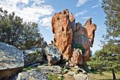 Κάθετος βράχος Piana Calanques στην Κορσική Στοκ φωτογραφία με δικαίωμα ελεύθερης χρήσης