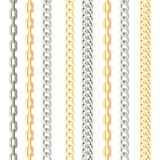 Κάθετο άνευ ραφής σχέδιο μετάλλων αλυσίδων στο άσπρο υπόβαθρο ελεύθερη απεικόνιση δικαιώματος