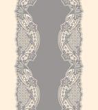 Κάθετο άνευ ραφής σχέδιο κορδελλών δαντελλών Στοκ Εικόνα