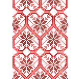 Κάθετο άνευ ραφής σχέδιο υπό μορφή καρδιών και λουλουδιών Στοκ Εικόνες