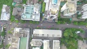 Κάθετο εναέριο μήκος σε πόδηα άποψης Traffice απόθεμα βίντεο