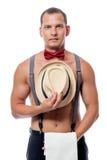 Κάθετο πορτρέτο όμορφο και προκλητικό stripper Στοκ Φωτογραφία