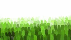 Κάθετο πράσινο υπόβαθρο κτυπημάτων βουρτσών Στοκ Εικόνες
