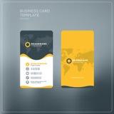 Κάθετο πρότυπο τυπωμένων υλών επαγγελματικών καρτών προσωπικά θέματα δύο χρώματος επαγγελματικών καρτών Στοκ εικόνα με δικαίωμα ελεύθερης χρήσης