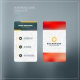 Κάθετο πρότυπο τυπωμένων υλών επαγγελματικών καρτών προσωπικά θέματα δύο χρώματος επαγγελματικών καρτών Στοκ Φωτογραφία