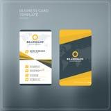 Κάθετο πρότυπο τυπωμένων υλών επαγγελματικών καρτών Προσωπικά WI επαγγελματικών καρτών Στοκ εικόνα με δικαίωμα ελεύθερης χρήσης