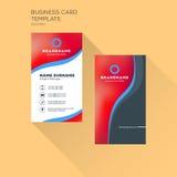 Κάθετο πρότυπο τυπωμένων υλών επαγγελματικών καρτών Προσωπικά WI επαγγελματικών καρτών Στοκ φωτογραφίες με δικαίωμα ελεύθερης χρήσης
