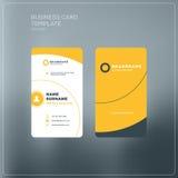 Κάθετο πρότυπο τυπωμένων υλών επαγγελματικών καρτών Προσωπικά WI επαγγελματικών καρτών Στοκ Εικόνες