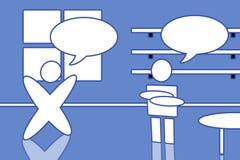κάθε άτομα άλλα μιλώντας δύ& στοκ φωτογραφία με δικαίωμα ελεύθερης χρήσης