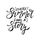 Κάθε καλοκαίρι έχει μια ιστορία - μελανώστε την ελεύθερη εγγραφή διανυσματική απεικόνιση