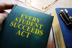 Κάθε σπουδαστής πετυχαίνει το νόμο ESSA Στοκ Φωτογραφίες