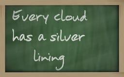 Κάθε σύννεφο έχει ένα κάτι θετικό Στοκ Εικόνες