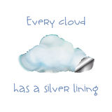 Κάθε σύννεφο Στοκ εικόνες με δικαίωμα ελεύθερης χρήσης