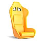 Κάθισμα δέρματος αθλητικών οδηγών διανυσματική απεικόνιση