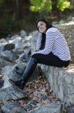 Κάθισμα και σκέψη Στοκ Φωτογραφίες